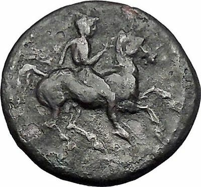 KRANNON in THESSALY 400BC Horseman Hydria Authentic Ancient Greek Coin i49157