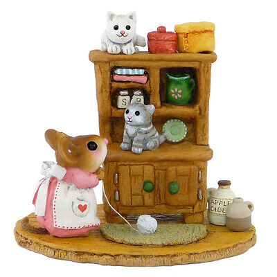 KITTY CUPBOARD by Wee Forest Folk, WFF # M-480a PINK Mouse