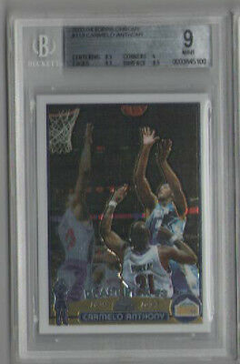 2003 TOPPS CHROME CARMELO ANTHONY ROOKIE CARD #113 GRADED BGS 9  MINT  KNICKS