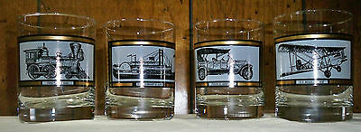 "Vintage Set of Four Avon ""America on The Move"" Rock Glasses"
