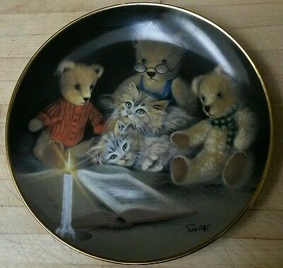 "Franklin Mint Sue Willis Limited Edition Collector Plate ""Story Hour"" numbered"