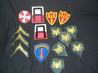 VINTAGE Lot of Original World War 2 WWII Military Uniform Patches MUST SEE Lot 2