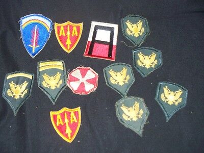 VINTAGE Lot of Original World War 2 WWII Military Uniform Patches MUST SEE Lot 3
