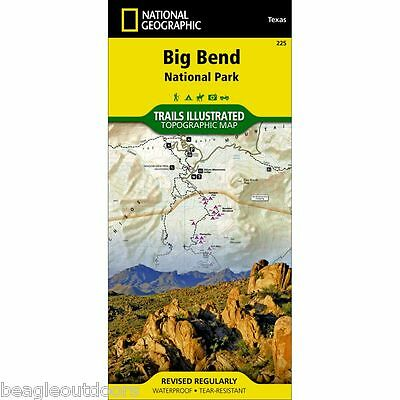 National Geographic Texas Big Bend National Park Trails Illustrated Map 225