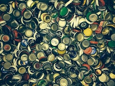 Lot of 600+ Used Beer Bottle Caps crafts collectibles