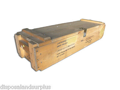 Ammo Box Timber USED Storage Box Military Issue Ex Australian Army Issue - AB10