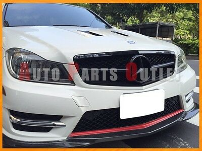 Gloss Black C63AMG Look Front Grille For Mercedes-BENZ C204/W204 C-Class 08-13