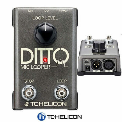 TC Helicon Ditto Mic Loop Vocal Looper pedal loop effect