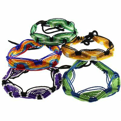 #3592 Friendship Bracelets Colorful Handmade 100 Pack Lot Wholesale Bulk Price