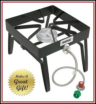Patio Stove - Bayou Classic Single Burner Cooking RV Camping Outdoor Gas Propane