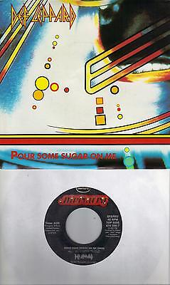 DEF LEPPARD Pour Some Sugar On Me / Ring Of Fire (nonLP track) 45 with PicSleeve