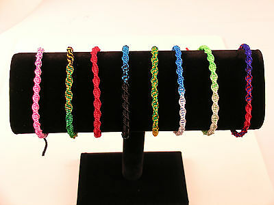 #4431 Wholesale Bracelets Colorful Handmade 100 Lot Pack Fundraiser Fair Trade