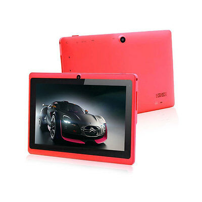 """Red Hot 7""""Google Android 4.2 A23 Dual Core Cams 4GB Tablet PC Wifi 1.5GHz MID ky"""