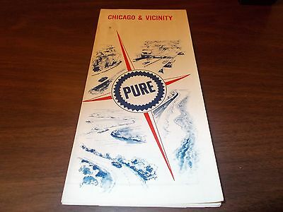 1967 Pure Oil Chicago and Vicinity Vintage Road Map