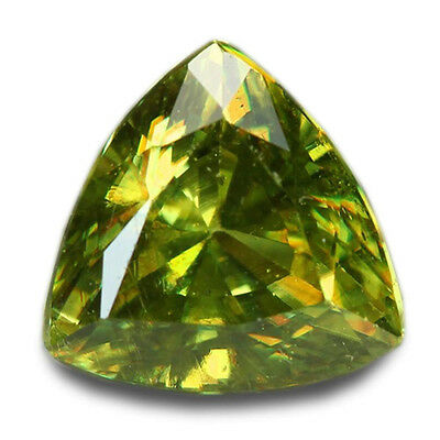 1.27 Carats Natural Madagascar Sphene Loose Gemstone - Trilliant