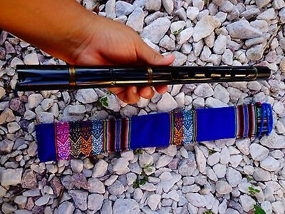NATIVE AMERICAN STYLE FLUTE QUENA   PROF- TUNED WOOD FLUTE  (G) SEE VIDEO NEW