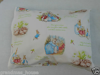 Peter Rabbit Pillowcase White Child Toddler Cot Size  100% Cotton