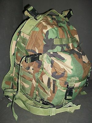 ORIGINAL US ARMY WOODLAND MOLLE II ASSAULT PACK OCP 3 DAY MILITARY BACKPACK SDS