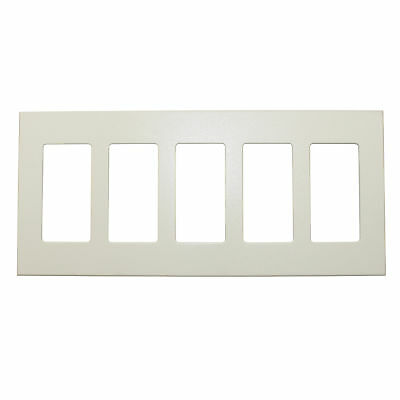 Lightolier Comfp5-Al 5-Gang Compli Screwless Faceplate Wall Plate, Almond
