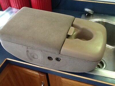 """1997 1998 1999 2000 2001 2003 FORD F150 ARMREST CENTER CONSOLE  Tan OEM """"NICE""""!"""