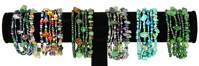 Six Strand Bracelet Stones and Crystal Beads Wholesale Price Assortment  BR191