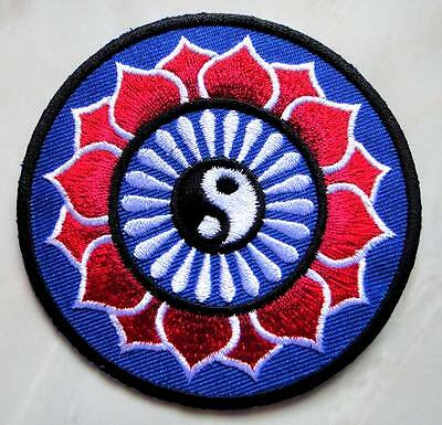 #04 Yin Yang Tao Taoism Symbol Design Embroidered Iron on Patch Free Shipping