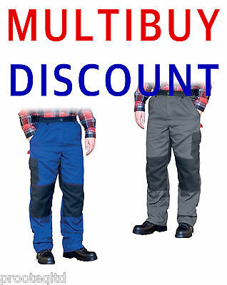Mens Combat Cargo Work Trousers Mechanic Warehouse Drivers Quality Product