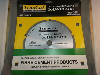 FIBRE CEMENT DiamondSAW BLADE-Cuts Hardie Prods-235mm