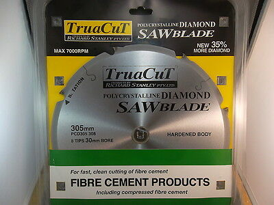 FIBRE CEMENT DiamondSAW BLADE-Cuts Hardie Prods-305mm