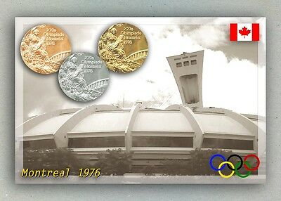 Montreal 1976 Olympic Medals. Olympic Stadium. Canada