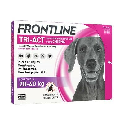 Frontline Tri-Act L Grand Chien (20-40 kg) - 3 pipettes