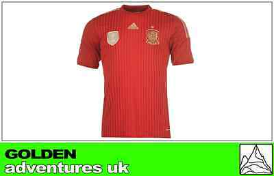 *2014 - Adidas ; Spain Home Shirt Ss + Fifa Patch = Size*