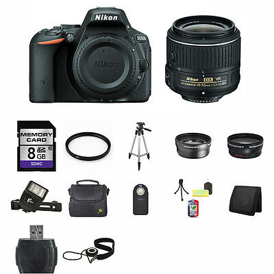 Nikon D5500 Digital SLR Camera - Black w/18-55mm Lens 8GB Best Value Kit