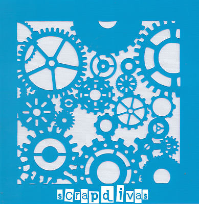 Scrapbooking - STENCILS TEMPLATES MASKS Sheet - Cogs Design 35