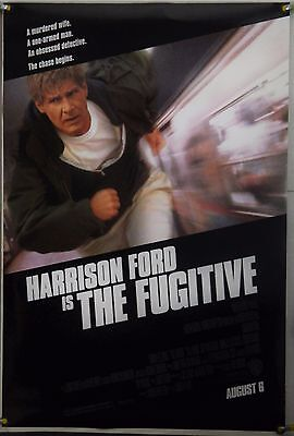 The Fugitive Ds Rolled Adv Orig 1Sh Movie Poster Harrison Ford Action (1993)