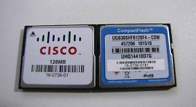 Cisco 128MB Compact Flash MEM1800-128CF MEM2800-128CF MEM2900-128CF CF