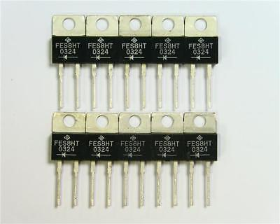 10 x Vishay FES8HT-E3/45 Fast Rectifier Diode, 8A, 500V, 50ns, 2-Pin TO-220AC