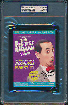 The Pee-Wee Herman Show Signed Postcard Psa/dna #83110016
