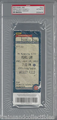 Pearl Jam Wrigley Field Concert Full Ticket July 19 2013 Psa Authentic #4435