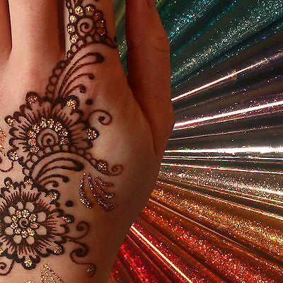 12 colours of glitter tattoo henna art to choose from PROFESIONAL QUALITY jx