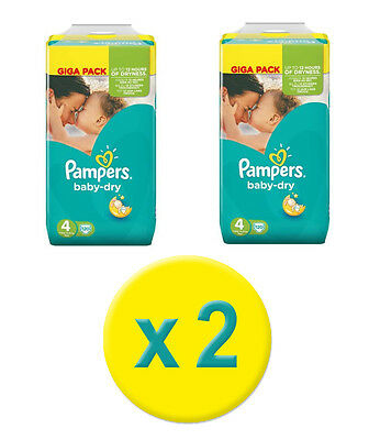 240 Couches Pampers Baby Dry Maxi *GIGA*  Taille 4,   7-18 Kgs  - Nouveau
