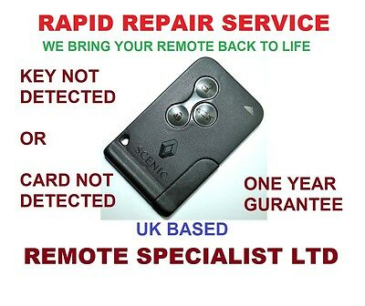 Renault Scenic Remote Key card Repair Service Fault  Card NOT Detected prob Fix