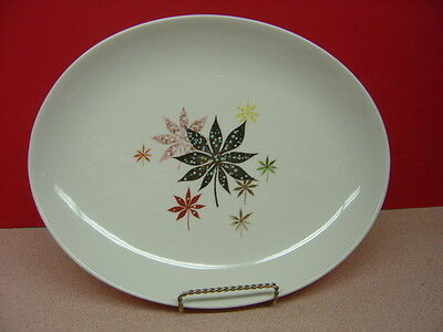 "Peter Terris/Shenango China CALICO LEAVES 13"" Oval Serving Platter"