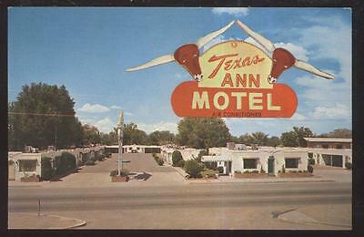 Postcard ALBUQUERQUE New Mexico/NM ROUTE 66  Texas Ann Motel Motor Court 1950's