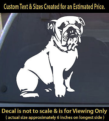 Bulldog 6 inch vinyl decal pet dog lovers animals sticker for ur car truck home