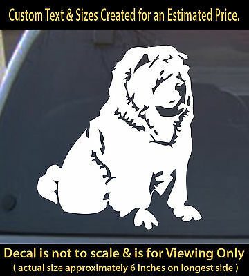 Chow Chow 6 inch sticker dog pet vinyl decal animal lover for home car more