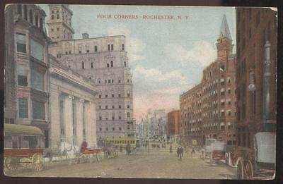Postcard ROCHESTER NY Four Corners Intersection 1907?