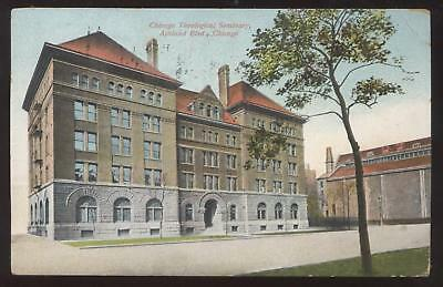 Postcard Chicago IL Theological Seminary view 1907?