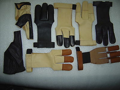 Archers Burnish Bow Shooting 100% Real Leather Gloves
