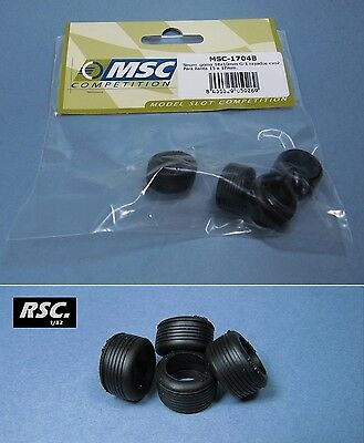 MSC COMPETITION - 4 TYRES 18 x 10 mm - WHEELS NEUMÁTICOS 1:32 SLOT TIRES